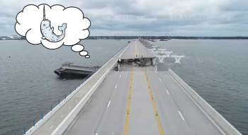 Pensacola bridge destroying barge actually magical narwhal!