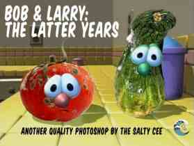 Christians in mourning as Veggietales Bob and Larry become old and rotten