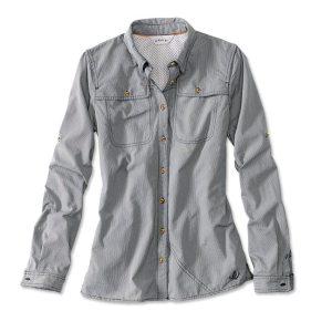women's long sleeve fishing shirt navy