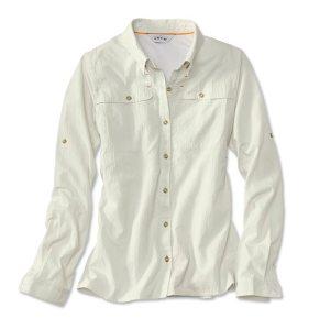women's long sleeve fishing shirt white