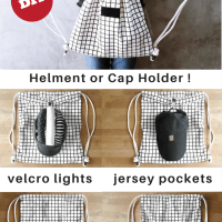 DIY Cycling Backpack with Jersey Pockets,  Helmet Clip, and Night Lights, Yeah !!