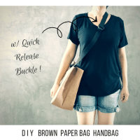 DIY Brown Paper Bag Handbag