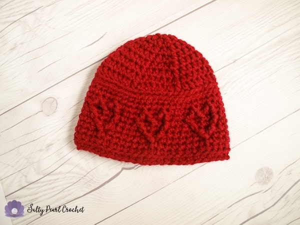 Baby Cabled Heart Hat Salty Pearl Crochet