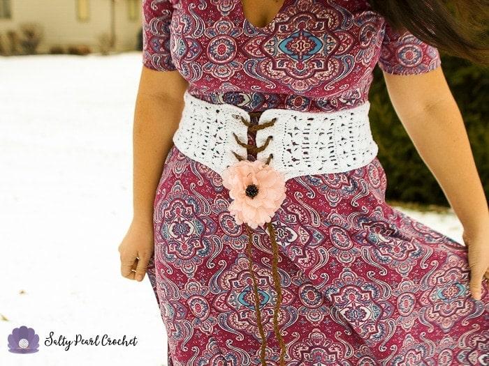 Clamshell Lace Corset Belt A Free Crochet Belt Pattern Designed