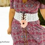 Find the free Clamshell Lace Corset Belt pattern at Saltypearlcrochet.com