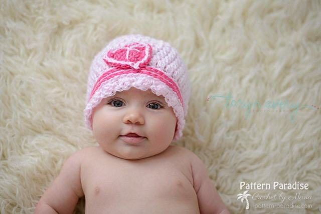 Sweetheart Cloche - Free Valentine Crochet Pattern Collection compiled by Salty Pearl Crochet
