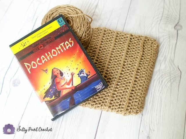 Use a DVD to make even fringe lengths of yarn. (I recommend Pocahontas!)