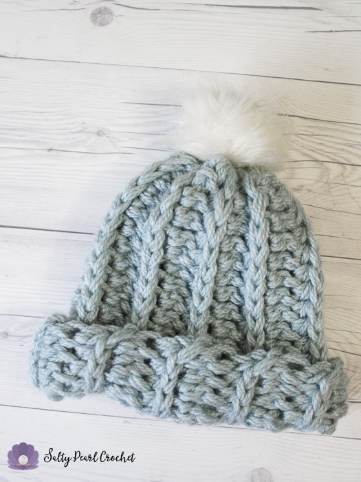 Free Knit Look Crochet Beanie Pattern: the Medalist Hat • Salty ...