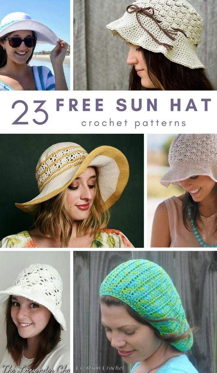 23 Free Sun Hat Crochet Patterns • Salty Pearl Crochet