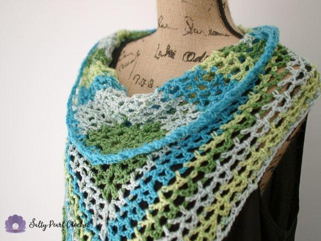 Bandana Scarf Crochet Pattern Mojito Mesh Bandana Cowl Free