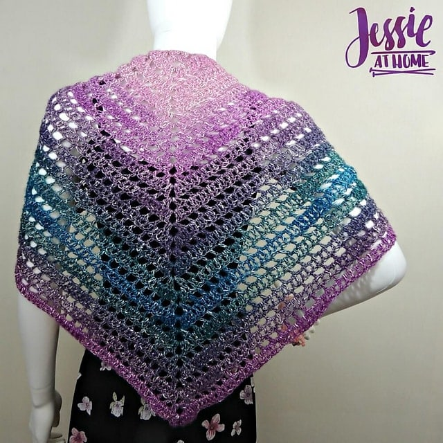 11 Easy Crochet Shawl Patterns Jessie At Home Salty Pearl Crochet