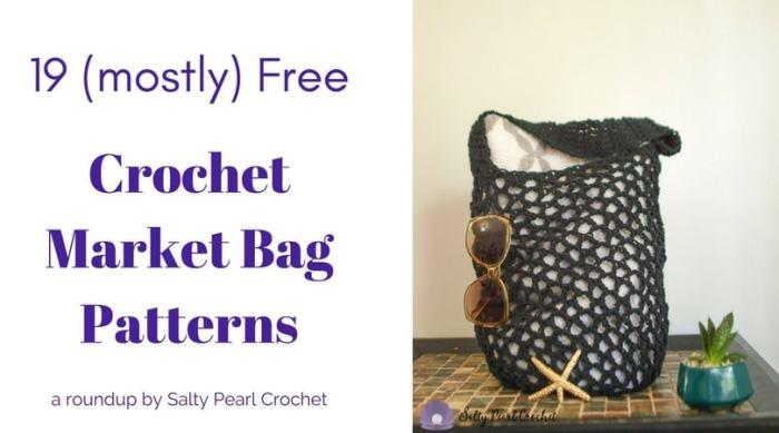 19 Easy Crochet Market Bag Patterns Salty Pearl Crochet