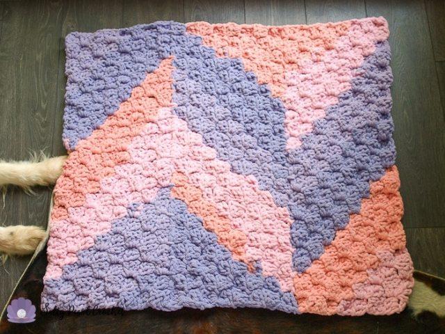Naomi's C2C Baby Blanket Crochet Pattern • Salty Pearl Crochet