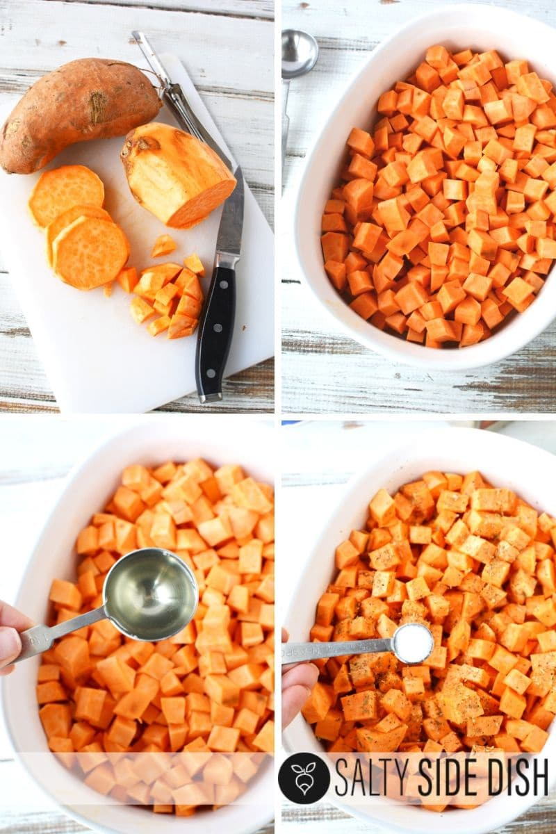 How To Peel Sweet Potatoes : sweet, potatoes, Baking, Diced, Sweet, Potatoes, Quicker