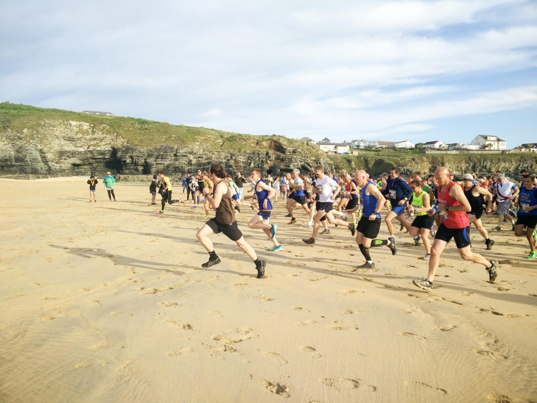 beach running race