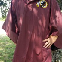 Burgundy Poncho with logo