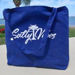 salty vibes beach bag