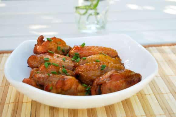 Asian Chicken Recipes Roundup - Baked Honey Garlic Chicken Wings