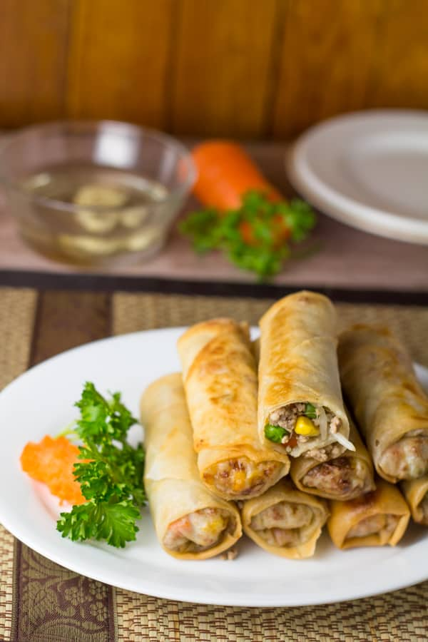 Lumpiang Prito (Pork and Vegetable Spring Roll)