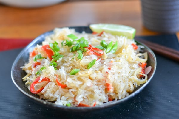 Vermicelli and Crab Meat Stir Fry