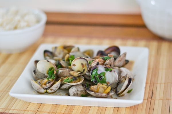 Clams with Black Bean Sauce