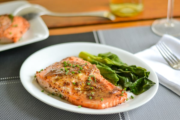 Maple Mustard Baked Salmon