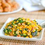 Sauteed Corn with Spinach