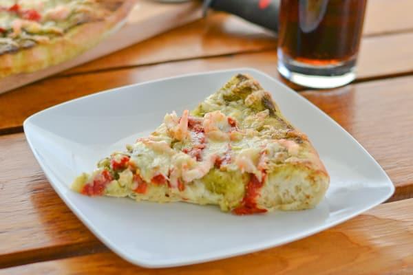Pesto Pizza with Shrimp and Sun Dried Tomato-3