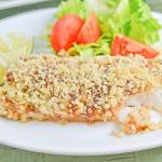 Wasabi Crusted Baked Fish Fillet