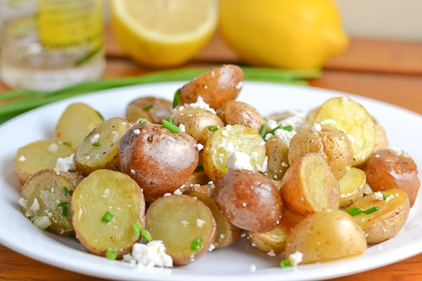 Roasted Potato with Feta Cheese and Lemon Vinaigrette ...