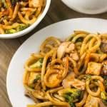 Stir Fried Noodles with Crispy Tofu