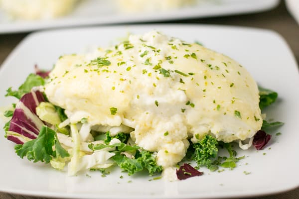 Halibut with Lime Garlic Sauce
