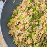 Quick Egg and Mushroom Fried Rice