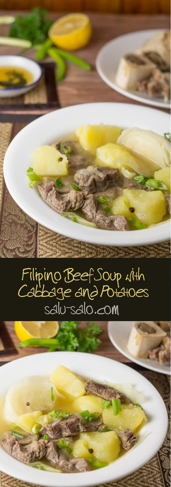 Nilagang Baka (Beef Soup with Cabbage and Potatoes)