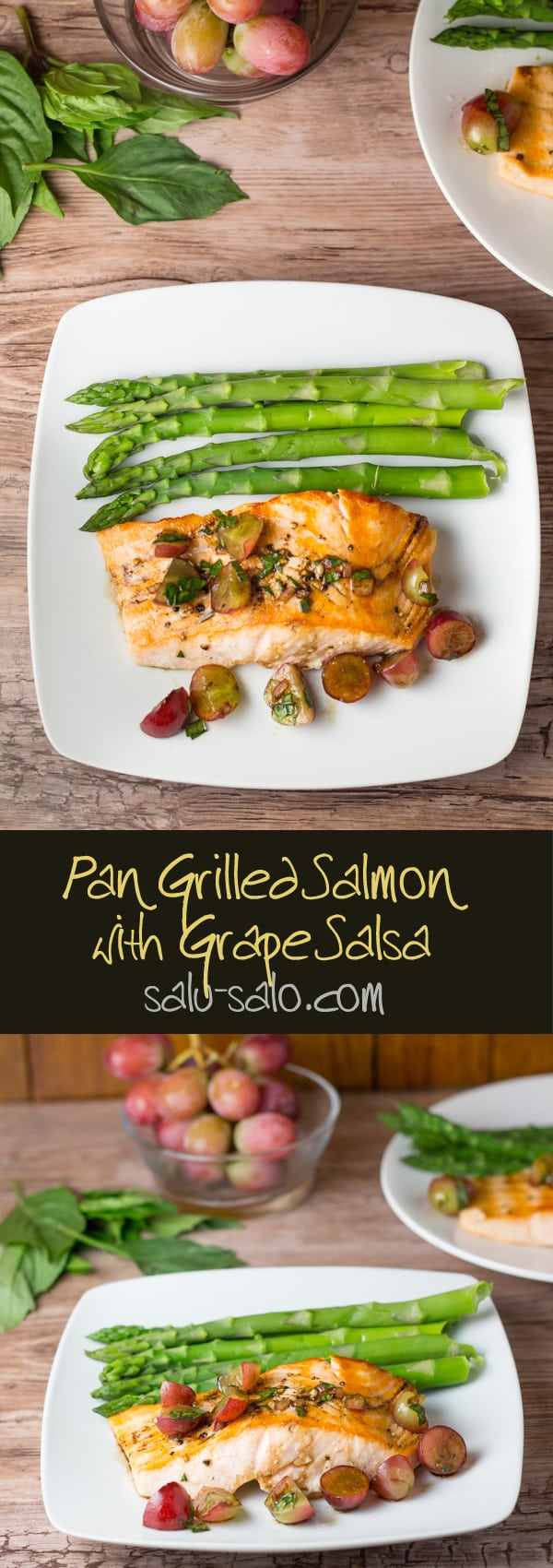 Pan Grilled Salmon with Grape Salsa