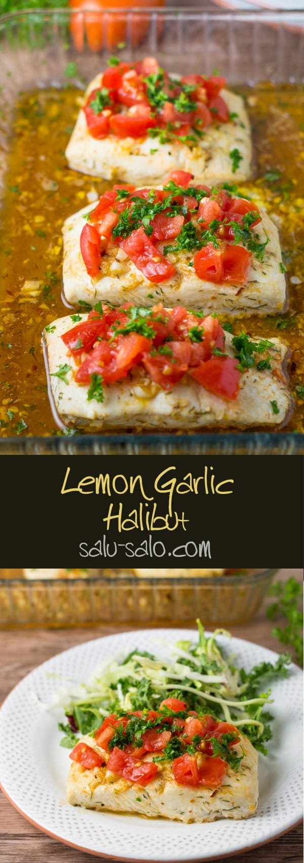 Lemon Garlic Halibut