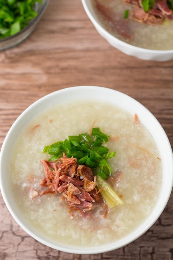 Instant Pot Leftover Ham Bone Congee