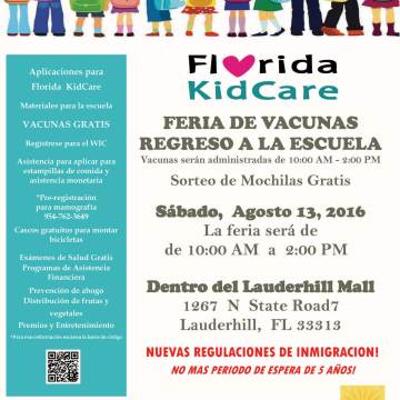 160813 Florida KidCare Feria de Vacuna Regreso a la Escuela