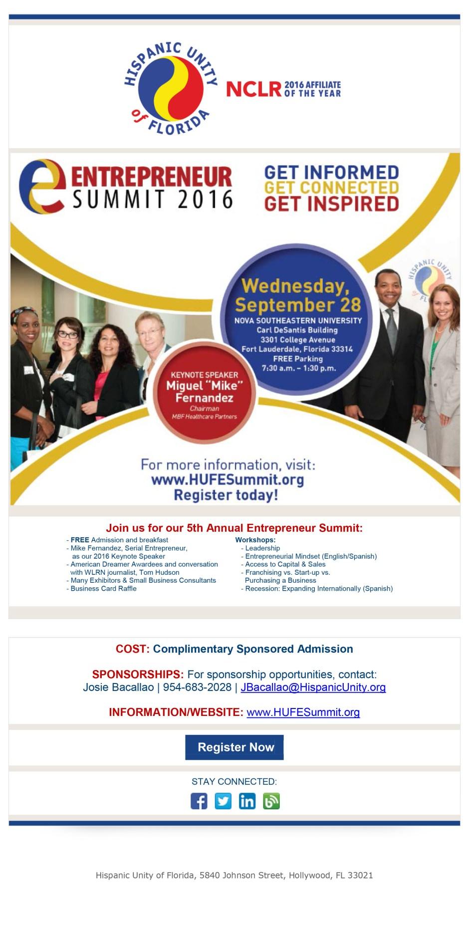 Hispanic Unity Entrepreneur Summit 2016