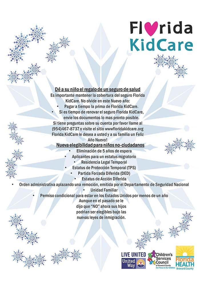 Florida Kidcare, dé a su niño el regalo de un seguro de salud