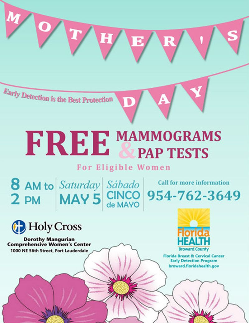 Early Detection : Free Mammogram and Pap Test