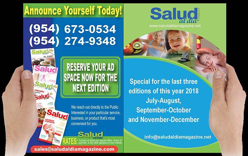 Advertise in SALUD al dia magazine