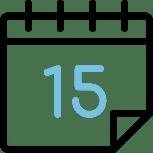 Calendario día 15