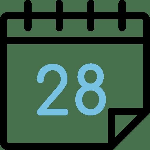 Calendario día 28