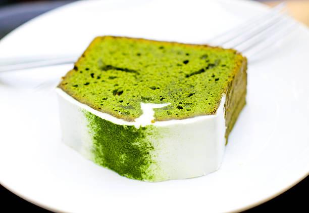 pastel de té matcha