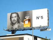 bradpitt inevitable chanel5 billboard