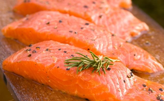 Curado carne, pescado