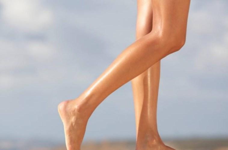 Deshacerse de los puntos oscuros en las piernas