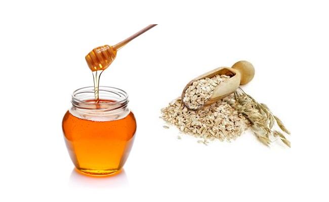 Harina de avena y miel de tratamiento de acné