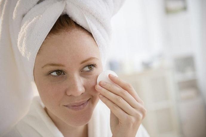 Limpieza de la piel del acné